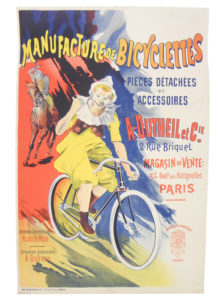 French Bicycle Advertising Poster