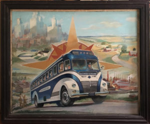 Blue Ridge Bus Illustrator Art
